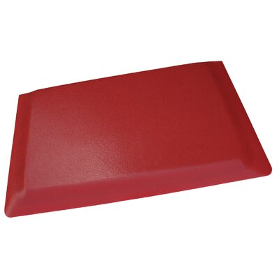 Hide Anti-Fatigue Comfort Kitchen Mat Mat Size: 2 x 3, Color: Glossy Red
