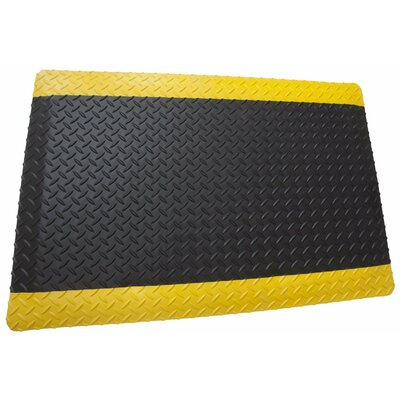 Diamond Plate Anti Fatigue Black/Yellow Utility Mat