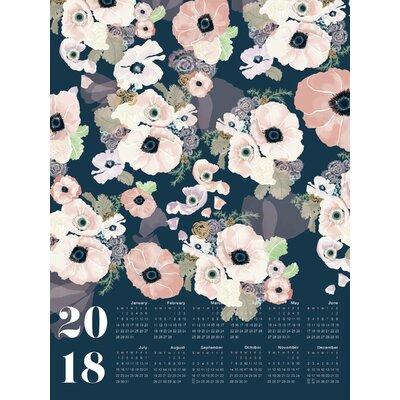 'Une Femme 2018 Large Calendar' Graphic Art Print on Canvas
