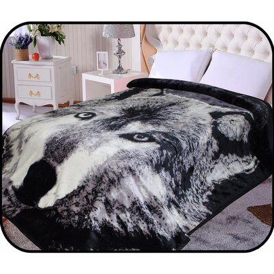 Hiyoko Safari Wolf Animal Mink Blanket