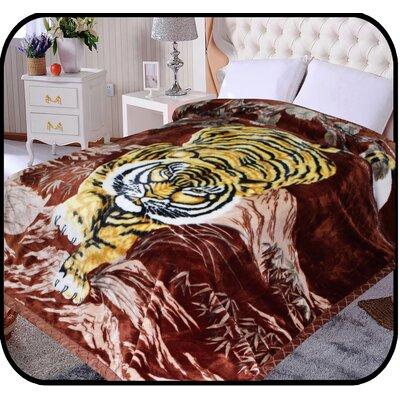 Hiyoko Safari Crouching Tiger Animal Mink Blanket