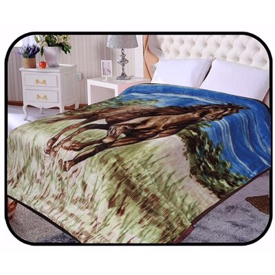 Hiyoko Safari Horse Animal Mink Blanket