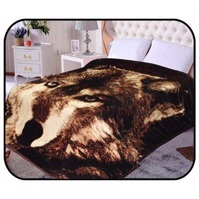 Hiyoko Safari Wolf Animal Mink Blanket