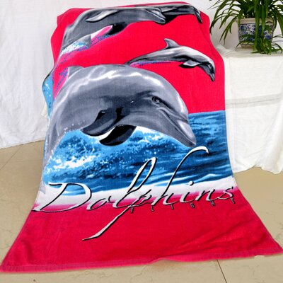Enjoyful Summer Time Dolphins Flight Beach Towel