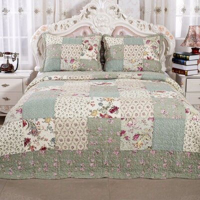 English Roses Quilt Set Size: Twin