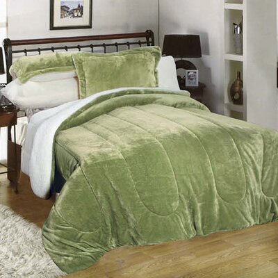 3 Piece Full/Queen Reversible Comforter Set Color: Sage
