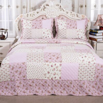 English Roses Quilt Set Size: King