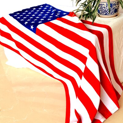 Enjoyful Summer Time USA Flag Beach Towel