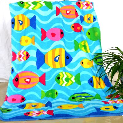 Enjoyful Summer Time Tropical Fish Beach Towel