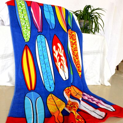 Enjoyful Summer Time Surfboards Beach Towel
