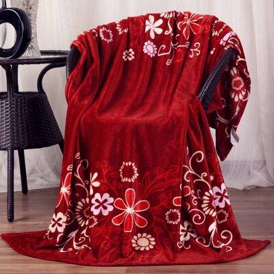 Hiyoko #4 Floral Ultra Plush Flannel Throw Blanket