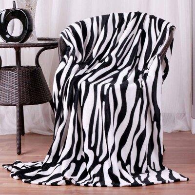 Hiyoko #7 Safari Zebra Skin Ultra Plush Flannel Throw Blanket