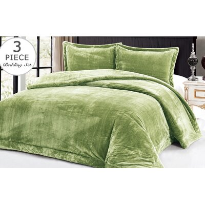 3 Piece Full/Queen Comforter Set Color: Sage