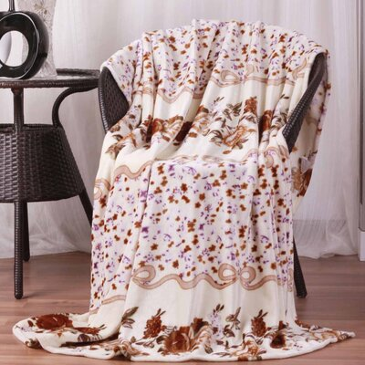 Hiyoko #6 Floral Ultra Plush Flannel Throw Blanket