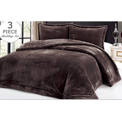 3 Piece Full/Queen Comforter Set Color: Chocolate