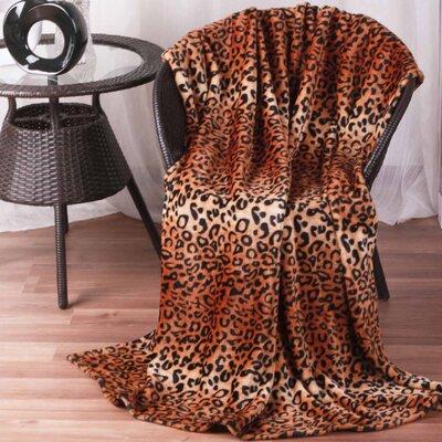 Hiyoko #5 Safari Leopard Skin Ultra Plush Flannel Throw Blanket