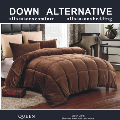 3 Piece Queen Comforter Set Color: Chocolate