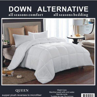 3 Piece Queen Comforter Set Color: White