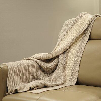 Marici Throw Blanket Color: Grey / Cream