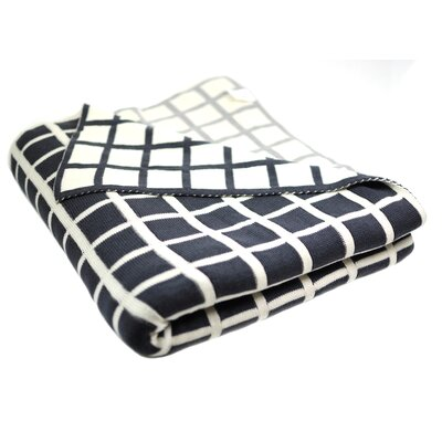 Sveda Throw Blanket Color: Blue / Grey