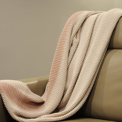 Marici Throw Blanket Color: Off White / Pink