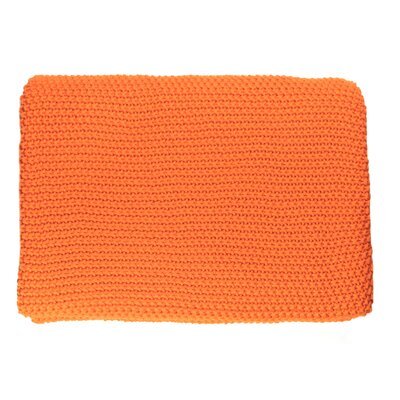 Varna Throw Blanket Color: Orange