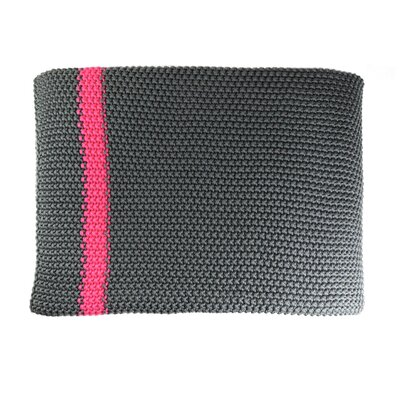 Marici Throw Blanket Color: Grey / Fuschia