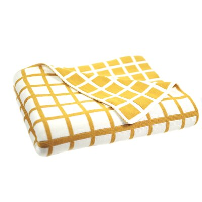 Sveda Throw Blanket Color: Blue / Yellow