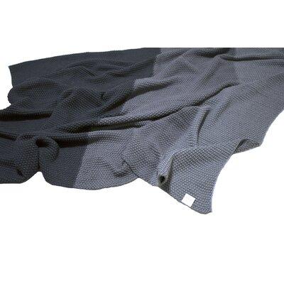Zac Moss Stitch Tri 100% Cotton Throw Blanket Color: Gray