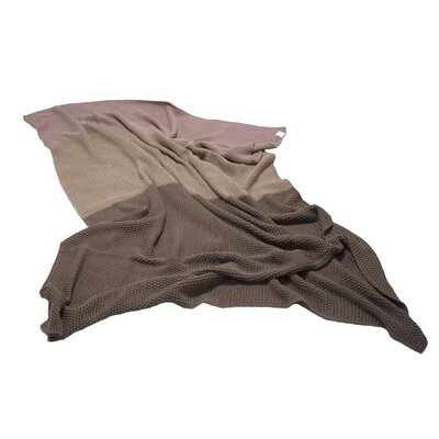 Zac Throw Blanket Color: Brown/Tan/Light Pink