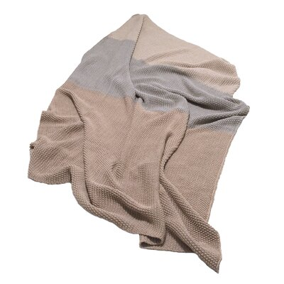 Zac Throw Blanket Color: Tan/Light Gray/Beige