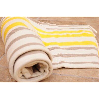 Stripe 100% Cotton Throw Blanket