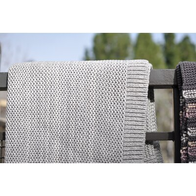 Marlled 100% Cotton Throw Blanket Color: Hazy Gray