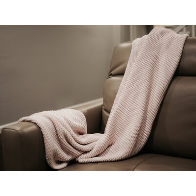 Zreyas Intertwined Cotton Throw Color: Pink/White