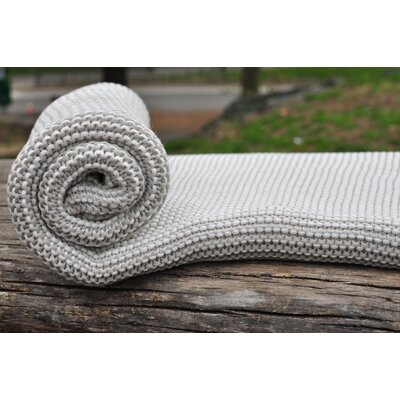 Zreyas Intertwined Cotton Throw Color: Gray/White