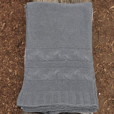 Classic 100% Cotton Throw Color: Hazy Gray