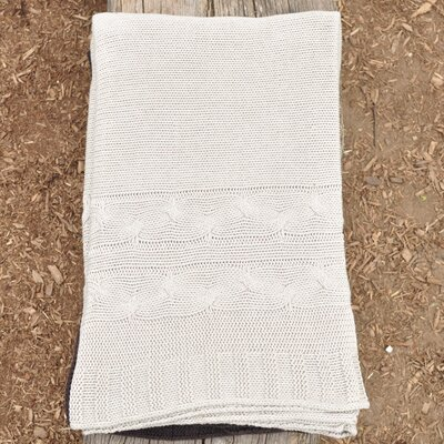 Classic 100% Cotton Throw Color: Hazy Cream