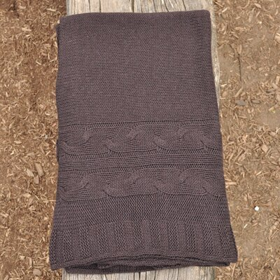 Classic 100% Cotton Throw Color: Chocolate Brown