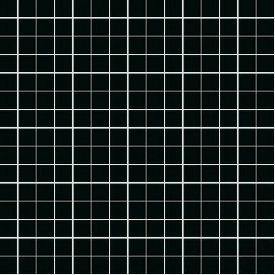 Opal 13 x 13 Glass Mosaic Tile in Black