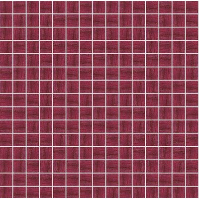 Jewel 13 x 13 Glass Mosaic Tile in Semi-Gloss Red