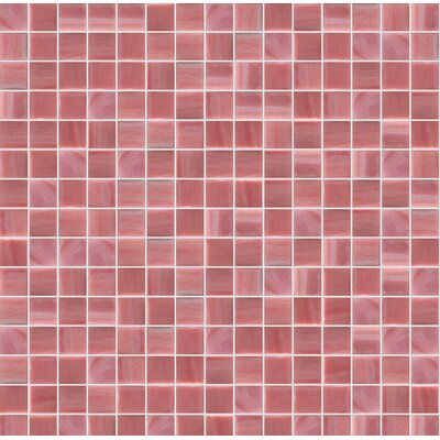 Jewel 13 x 13 Glass Mosaic Tile in Pink/Red