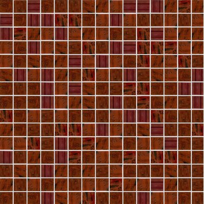 Opal 13 x 13 Glass Mosaic Tile in Brown