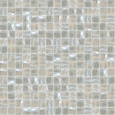 Jewel 13 x 13 Glass Mosaic Tile in Beige/Gray