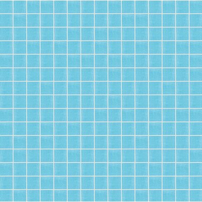 Opal 13 x 13 Glass Mosaic Tile in Semi-Gloss Blue