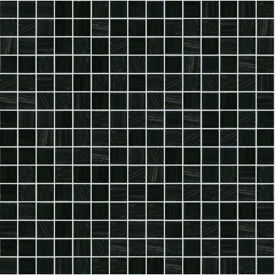 Jewel 13 x 13 Glass Mosaic Tile in Black
