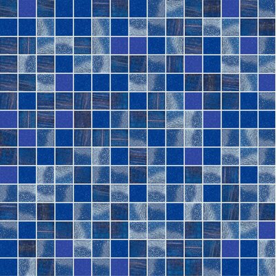 Standard Mix 13 x 13 Glass Mosaic Tile in Semi-Gloss Blue