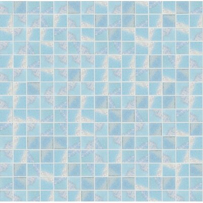 Glare 13 x 13 Glass Mosaic Tile in Blue/White