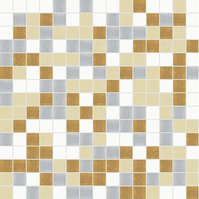 Standard Mix 13 x 13 Glass Mosaic Tile in Gray/Brown