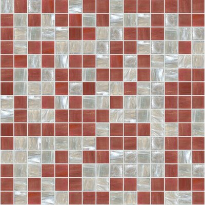 Standard Mix 13 x 13 Glass Mosaic Tile in Brown/Beige
