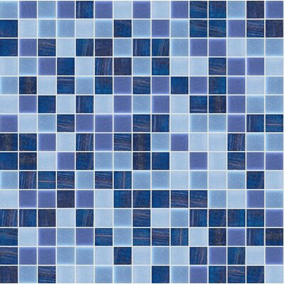 Standard Mix 13 x 13 Glass Mosaic Tile in Blue/Purple